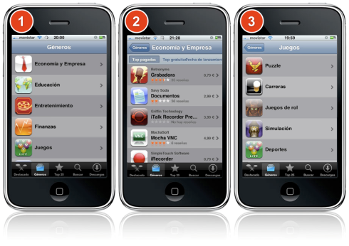 Evolución App Store iPhone