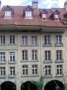 Vista central desde la ventana del salón de la casa de Albert Einstein